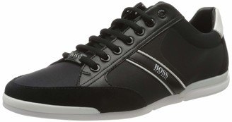 HUGO BOSS Mens Saturn Lowp Low-Profile Trainers with Bamboo-Charcoal Lining