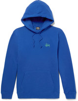 Stussy Printed Fleece-Back Cotton-Blend Jersey Hoodie