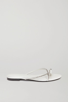 3.1 Phillip Lim Kiddie Crystal-embellished Leather Sandals - White