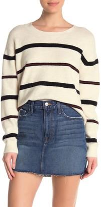 Frame Slouchy Stripe Knit Sweater