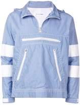 Comme Des Garçons Shirt front zip striped sweater