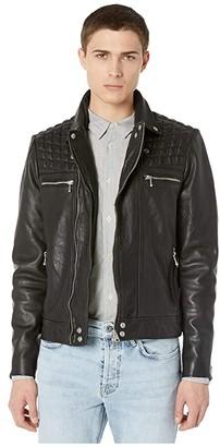 AllSaints Ronver Biker (Black) Men's Clothing