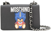 Moschino logo bead shoulder bag - women - Leather - One Size