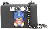Moschino logo bead shoulder bag