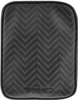 Versace Chevron Logo Shoulder Bag Black