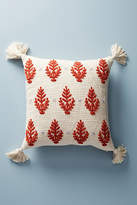 Anthropologie Embroidered Rue Pillow