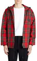 Burberry Hooded Zip-Front Tartan Check Wind-Block Jacket