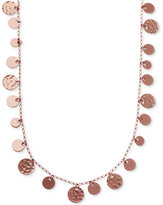 Nine West Rose Gold-Tone Shaky Disc Long Strand Necklace