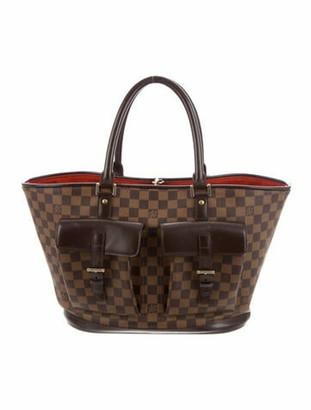 Louis Vuitton Vintage Damier Ebene Manosque GM Brown