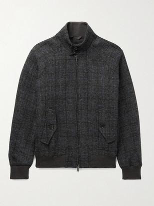 Baracuta G9 Checked Virgin Wool-Tweed Harrington Jacket - Men - Gray