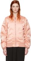 Acne Studios Pink Leia Bomber Jacket