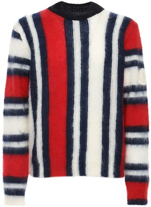 MONCLER GENIUS French Flag Mohair Sweater
