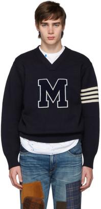 Junya Watanabe Navy M V-Neck Sweater