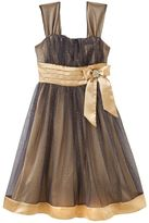 My Michelle two tone mesh overlay dress - girls 7-16