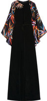 Emilio Pucci Embellished Silk Gown - Black