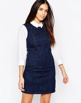 Warehouse Button Detail Denim Dress