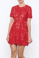 Lush Cherry Lace Dress