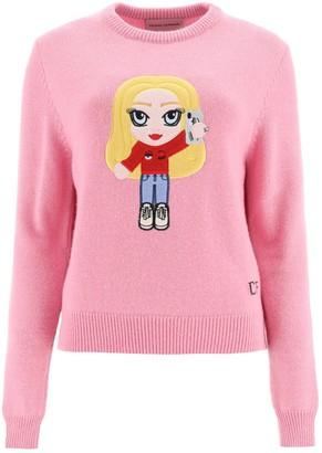 Chiara Ferragni Embroidered Knit Pullover