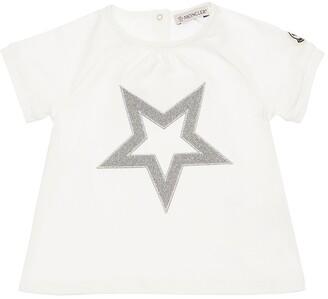 Moncler Lurex Star Cotton Jersey T-Shirt