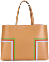 Tory Burch Block T-stripe tote - women - Leather - One Size