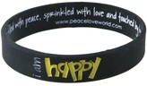 Peace Love World I am Happy Black Kids Classic Silicone Bracelet