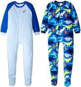 Gerber 2 Pack Blanket Sleepers (Toddler) - Dinos - 2T