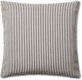 French Laundry Home Ticking 20x20 Cotton Pillow, Black