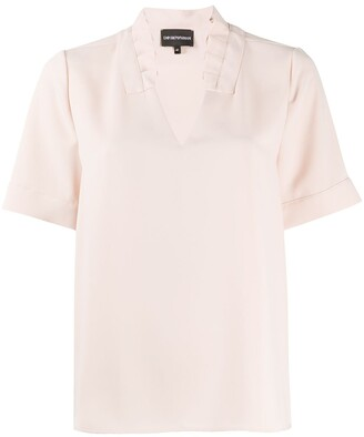 Emporio Armani Short-Sleeve Shift Blouse