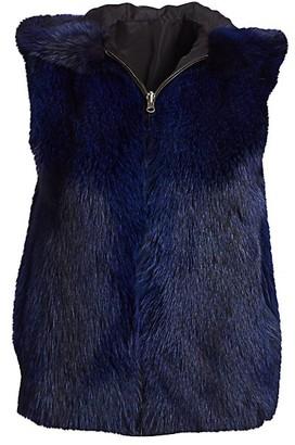 The Fur Salon Fox Fur Hooded Vest