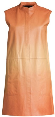 Lafayette 148 New York Malva Ombre Leather Vest