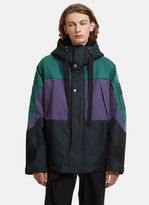 Lanvin Inside Out Tech Sport Parka In Green