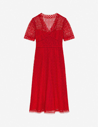 Claudie Pierlot Ruliae20 guipure-lace midi dress
