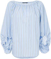 Smythe striped shift blouse