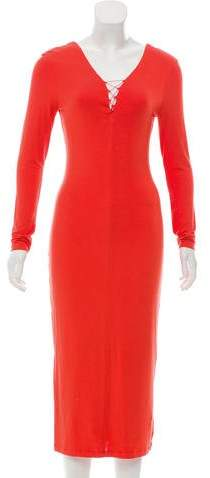 Alexander Wang Lace-Up Midi Dress