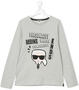 Karl Lagerfeld Teen slogan print top
