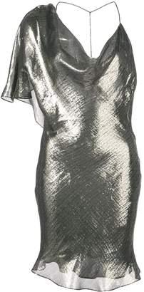 Cushnie metallic asymmetric party dress