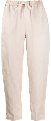 Semi-Couture Cropped Tapered-Leg Trousers