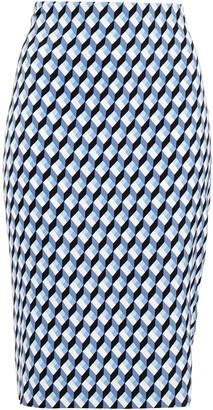 Diane von Furstenberg Pirnted Jersey Pencil Skirt