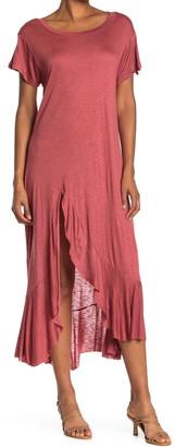 WEST KEI Slub Knit Maxi T-Shirt Dress