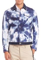 DSQUARED2 Tie Dye Acid Wash Jean Jacket