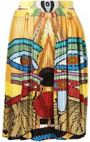 Givenchy Egyptian print pleated skirt - women - Silk - 38