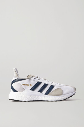 adidas + Human Made Tokio Solar Leather-trimmed Suede And Mesh Sneakers - White
