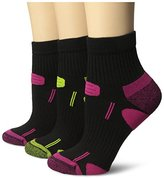 Dr. Scholl's Women's 3 Pack Health Strides Tri-Zone Ankle Socks