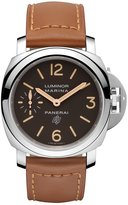Panerai Men's 44mm Leather Band Steel Case S. Sapphire Mechanical Analog Watch PAM00632