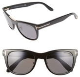 Tom Ford Women's Jack 51Mm Polarized Sunglasses - Shiny Black/ Grey Polar
