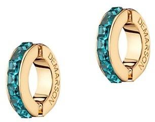 DEMARSON Eden 12K Goldplated & Bi-Color Swarovski Crystal Earring Cuffs