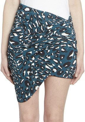 Alexandre Vauthier Microcrystal Ruched Mini Skirt