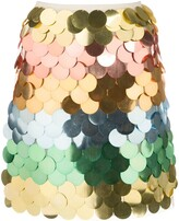 Sara Battaglia rainbow sequin mini skirt