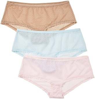 Iris & Lilly Amazon Brand Women's Hipsters Full-cover Lace Pack of 3