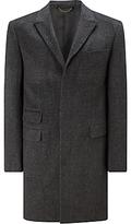 John Lewis Twill Epsom Coat, Grey